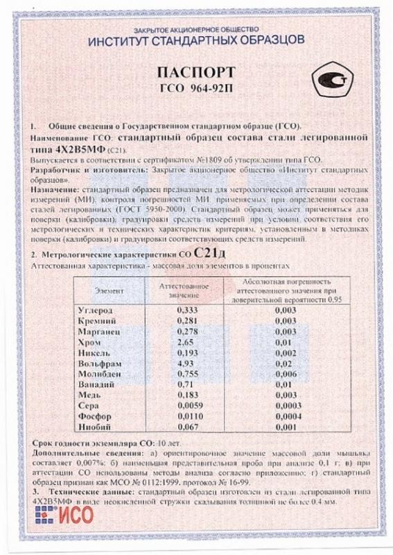 Паспорт на С21д