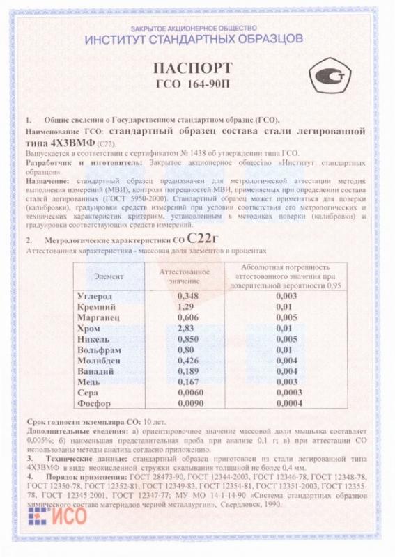 Паспорт на С22г