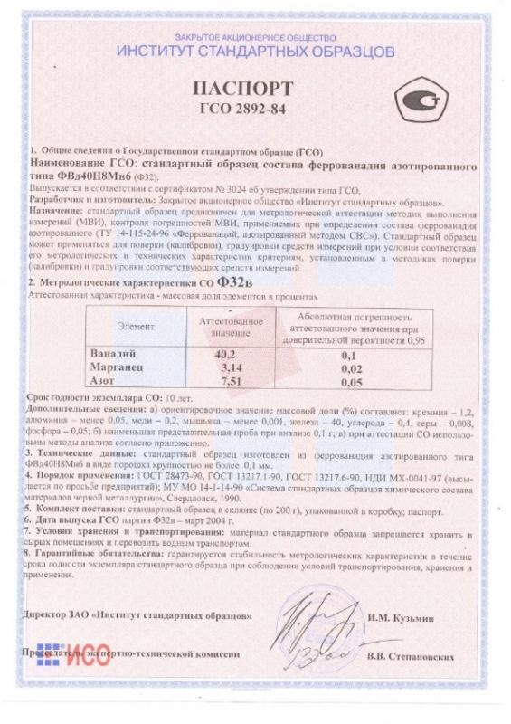 Паспорт на Ф32в