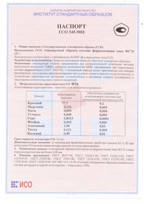 Паспорт на Ф3в