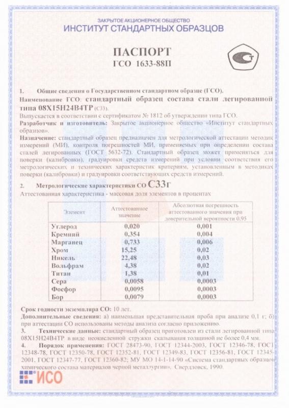 Паспорт на С33г