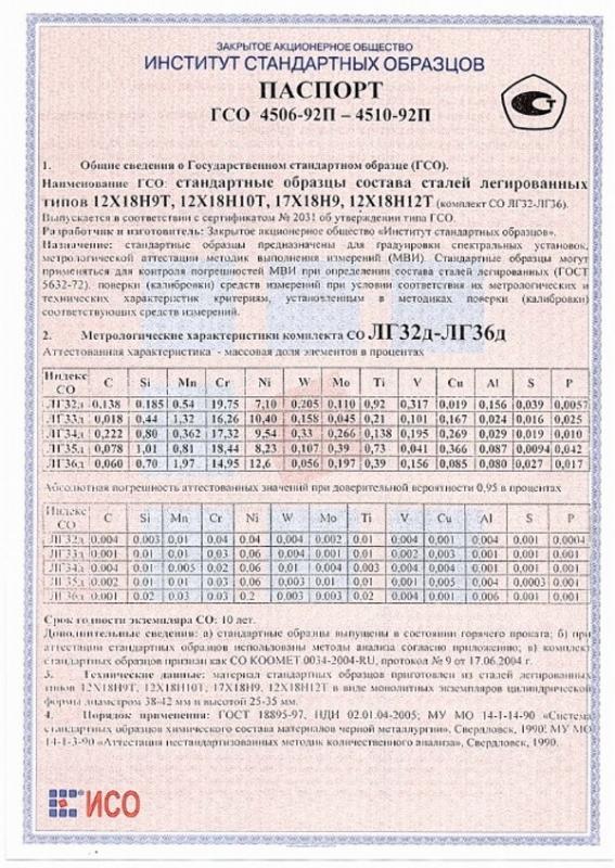Паспорт на ЛГ35д
