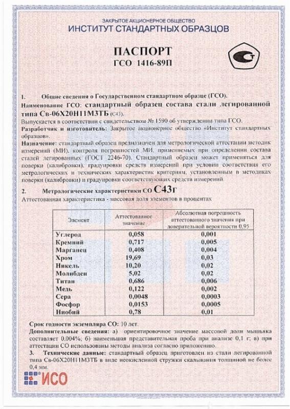 Паспорт на С43г