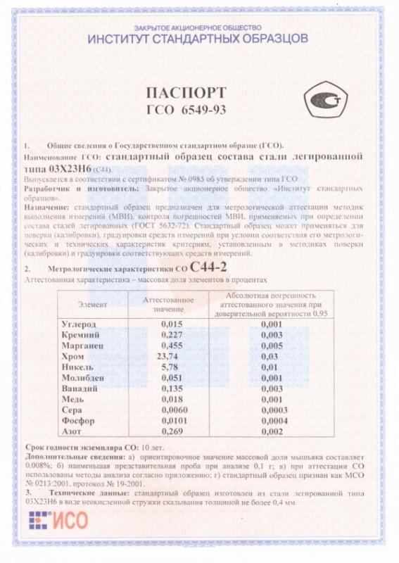Паспорт на С44-2