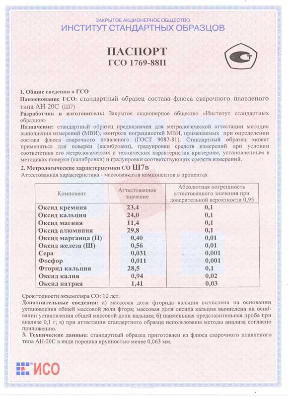 Паспорт на Ш7в
