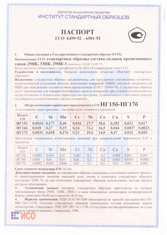Паспорт на НГ17б
