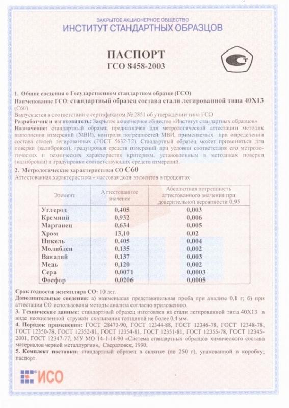 Паспорт на С60