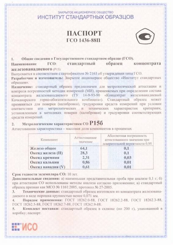 Паспорт на Р15б