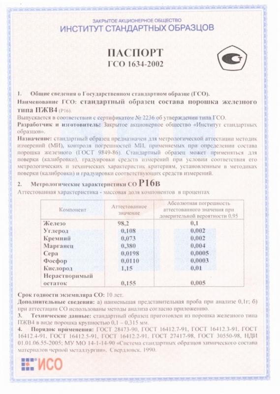 Паспорт на Р16в