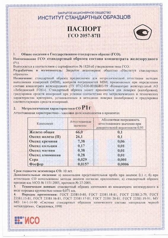 Паспорт на Р1г