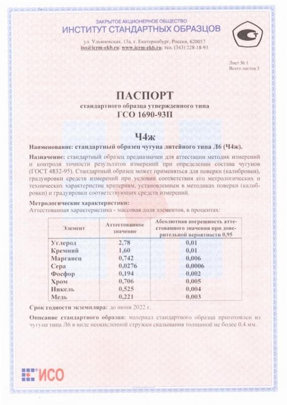 Паспорт на Ч4ж