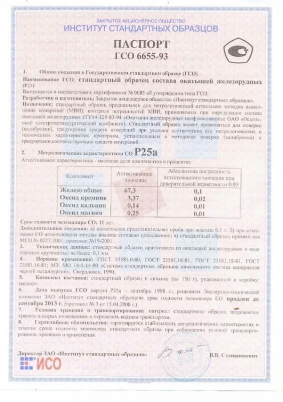 Паспорт на Р25а