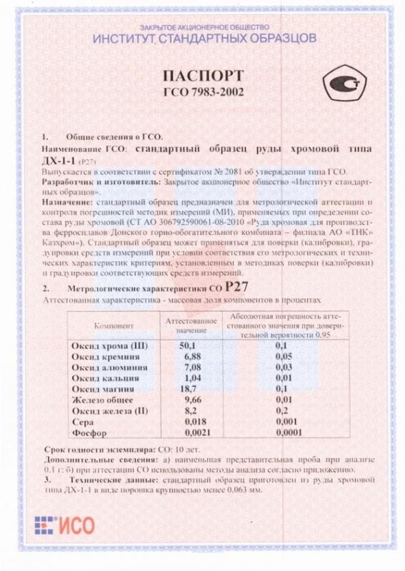 Паспорт на Р27