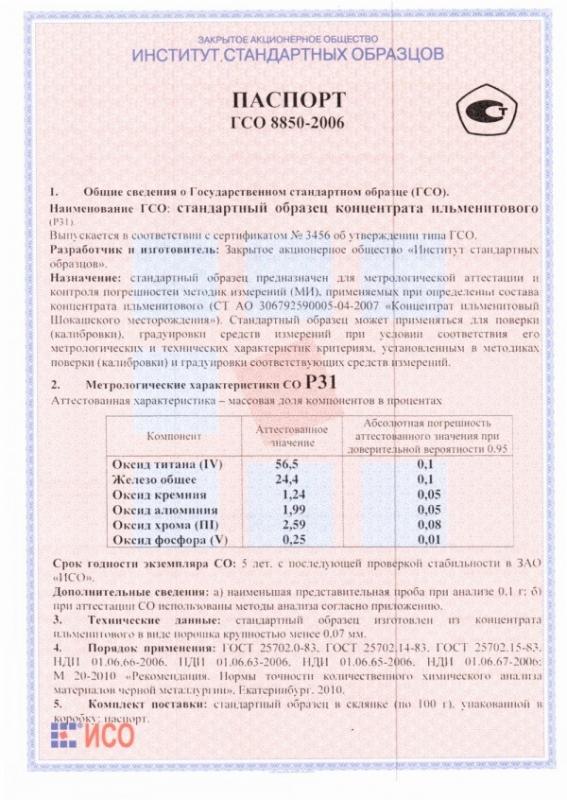 Паспорт на Р31