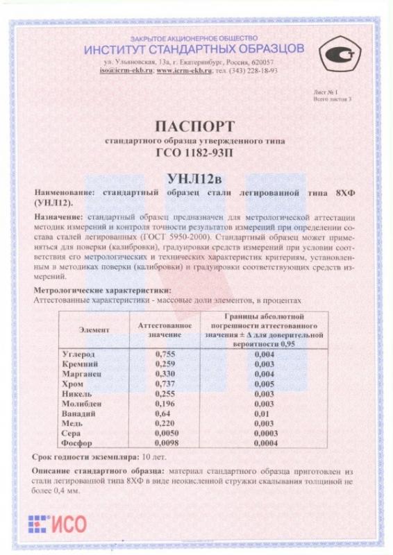 Паспорт на УНЛ12в