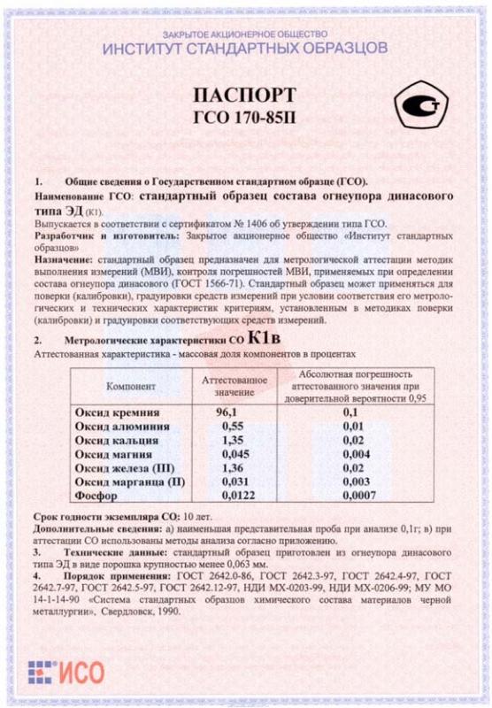Паспорт на К1в