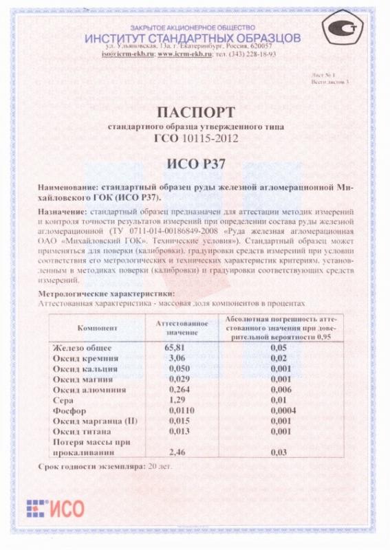 Паспорт на Р37