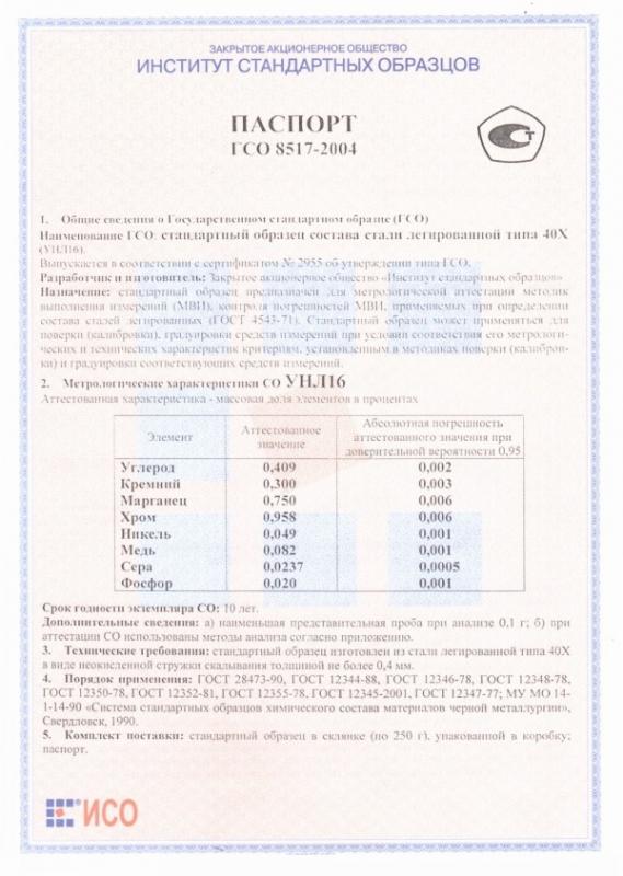 Паспорт на УНЛ16