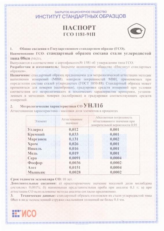 Паспорт на УНЛ1б