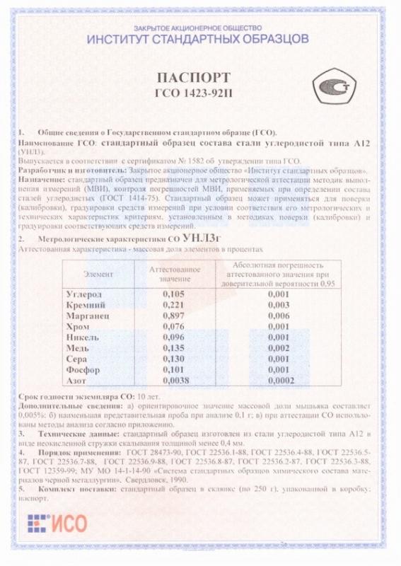 Паспорт на УНЛ3г