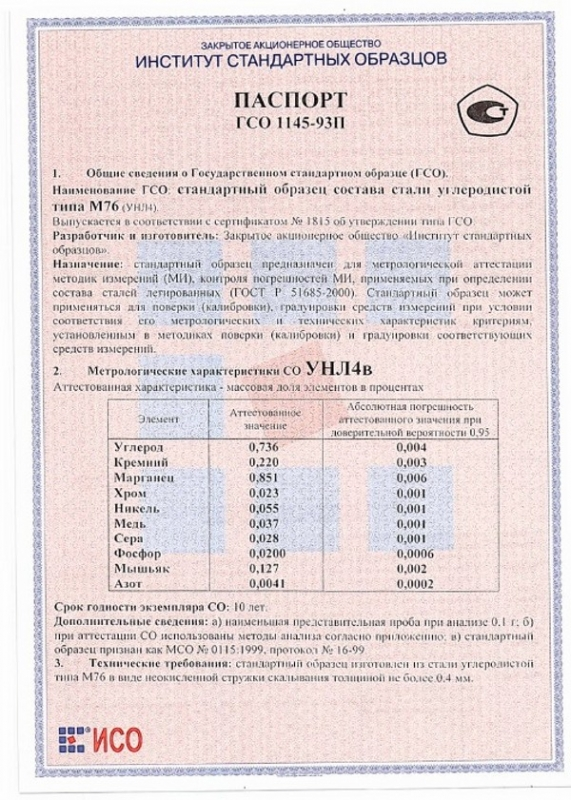 Паспорт на УНЛ4в