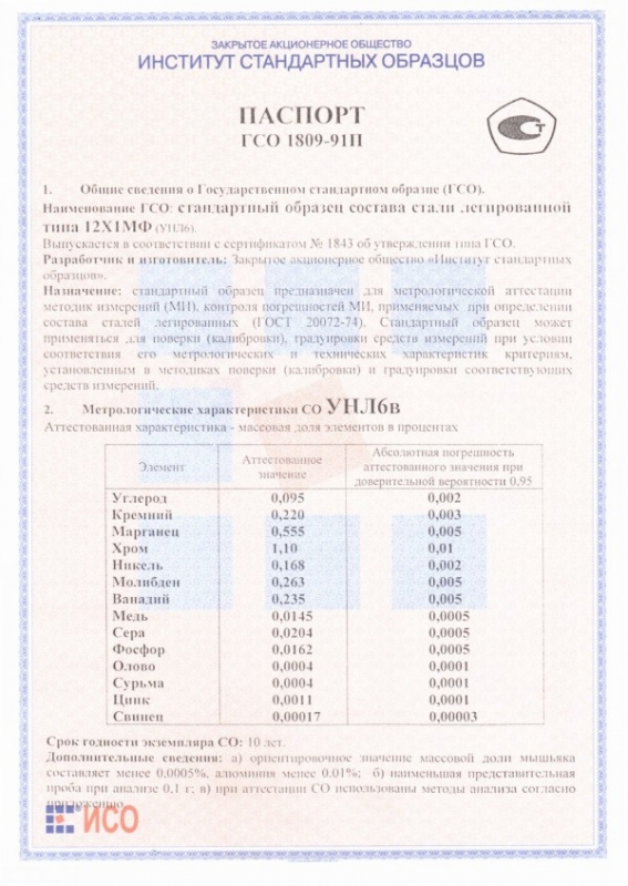 Паспорт на УНЛ6в