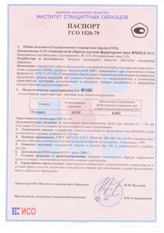 Паспорт на Ф10б