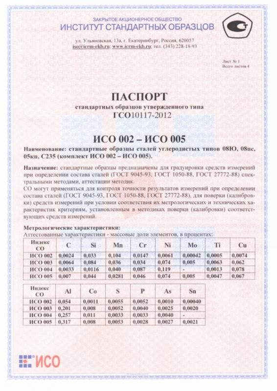 Паспорт на 005