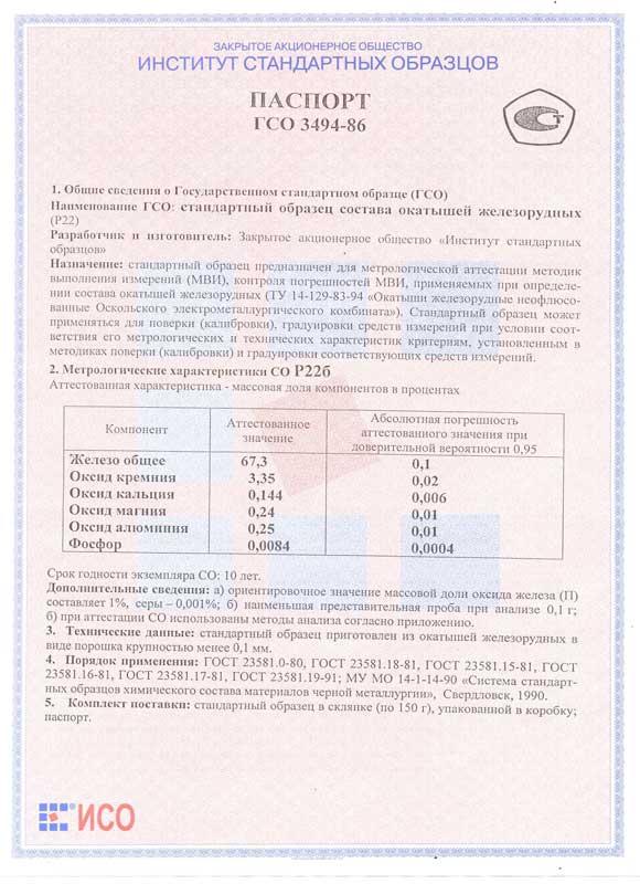 Паспорт на Р22б