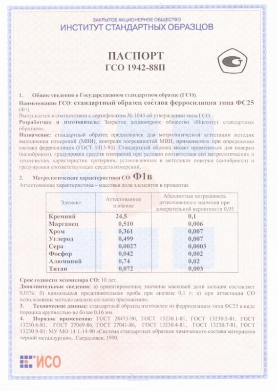 Паспорт на Ф1в
