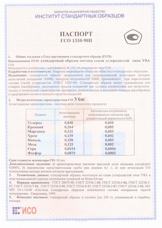 Паспорт на У6ж