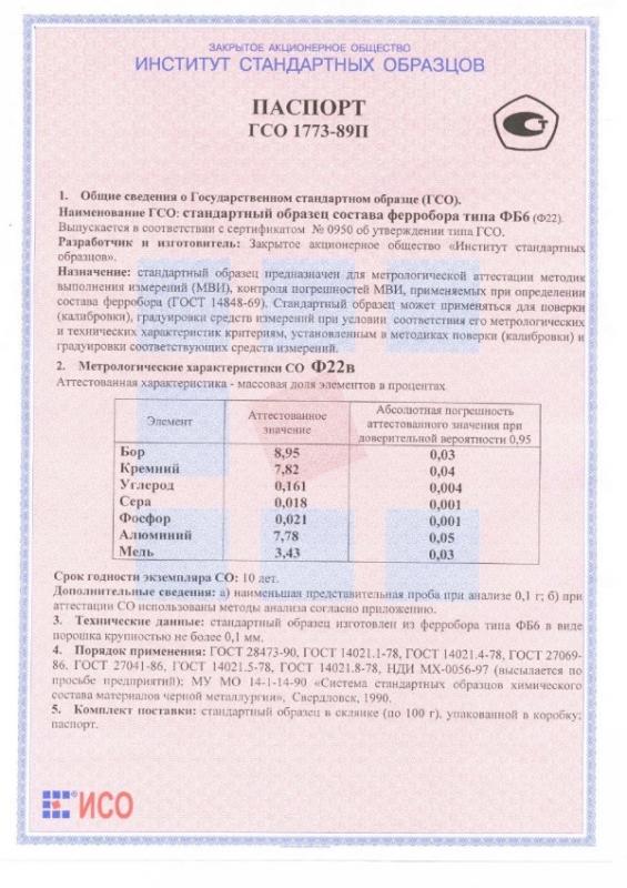 Паспорт на Ф22в