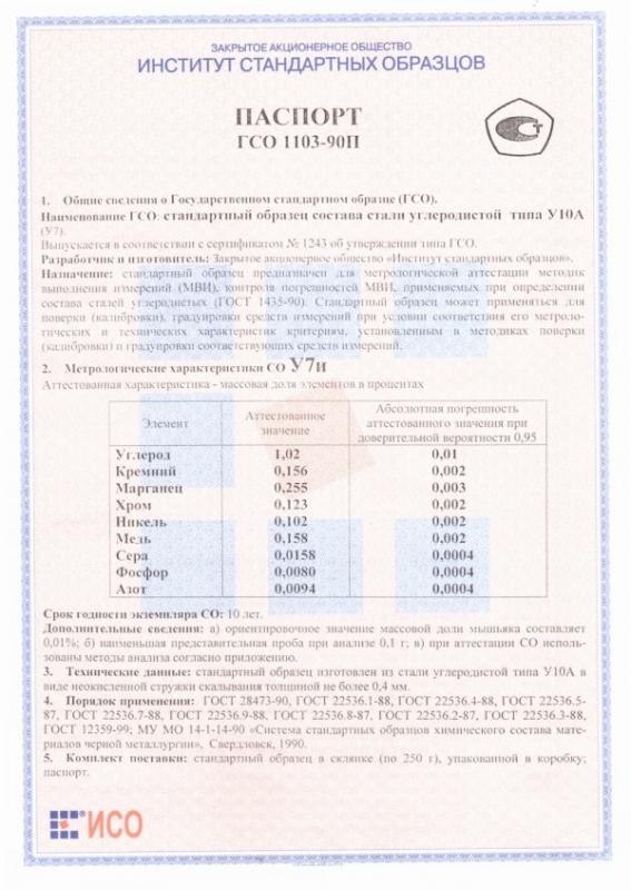 Паспорт на У7и