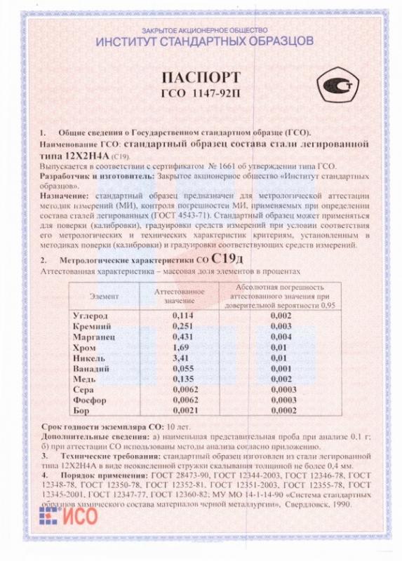 Паспорт на С19д